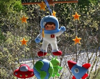 Baby Mobile - Space Baby Mobile - Space Nursery - Baby Felt Crib Mobile - Cot Mobile - Hanging Mobile - Bedding Crib Mobile New Baby Dolls 3