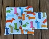 Reusable Bag Combo, Dog - Zipper Sandwich Bag and Zipper Snack Bag