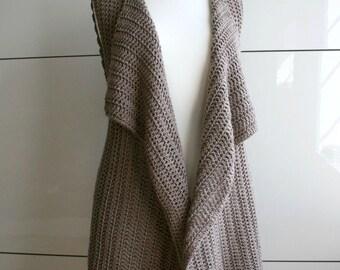 Crochet Pattern, INSTANT DOWNLOAD crochet wrap pattern, vest crochet pattern, spring vest crochet pattern 235