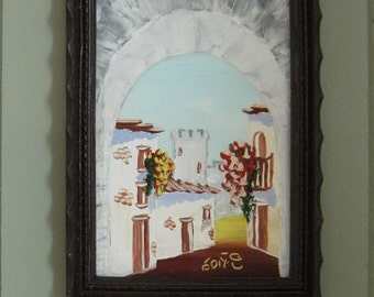 Handpainted Dollhouse Scale Painting