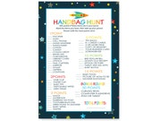 Space Handbag Hunt Baby Shower Game - Instant Download - Printable - Boys Sprinkle - Cool Activity - Fun Purse Search - Colorful (SPACEHAND)