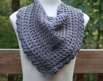 The Valentina Scarf in Grey - Ready to Ship