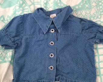Vintage chambray crop jacket 18-24 months