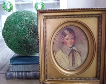 Sweet portriat of Peter By Arthur Garrett In Orignal Golden Frame