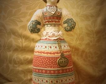 Vintage upcycled Avon American Heirloom  porcelain doll, porcelain doll pincushion