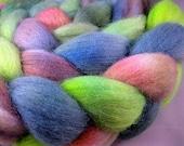 TROPICAL - Handpainted Polwarth Wool Roving, 4 oz.