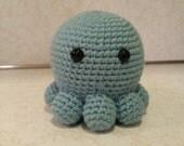 Octopus- Crochet Amigurumi Stuffed Animal Plush- Blue