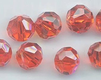 12 pieces vintage Swarovski Art. 39/5300 - 8 mm - hyacinth AB