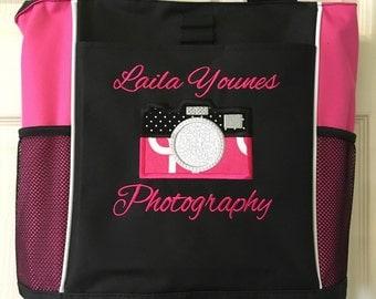 Peronalized Photography bag, Camera Hobby carryall, camera bag