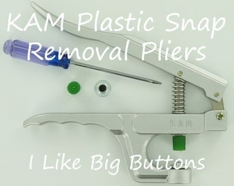 KAM Plastic Snap Removal Pliers for Diapers/Bibs/Clothing/Nappies/Poppers/KAM Snap (Ships from the USA)