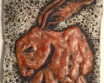 Ceramic Tile Bully Hare by Tony Furtado
