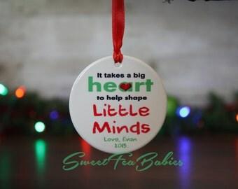Teachers gift, teachers ornament, teacher gift, teacher ornament, gift for teacher ornament, custom ornament, Christmas ornament