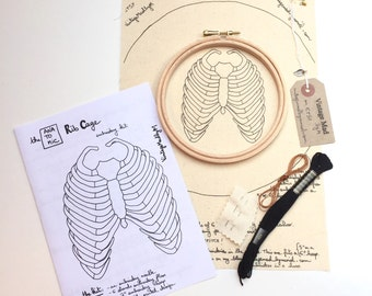 Embroidery Kit ANATOMIC RIB CAGE