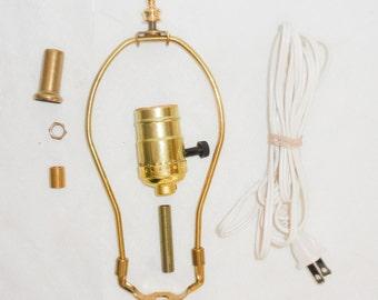 """8"""" Lamp Wiring Kit Harp, Socket, Cord, Finial"""