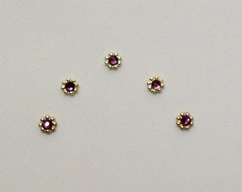 Amethyst & Bright Gold Accent Bindis