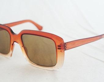 Sunglasses-  Wide Tortoise Shell Italian Brown Square Frames
