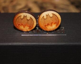 Superhero cufflinks// laser cut cufflinks// Character cufflinks// Comic book heroes  // Batman, Superman, Avengers