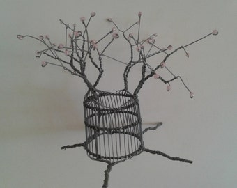 BAOBAB TREE from AFRICA - Hand Made from wire and Beads - Delicate piece of Africa