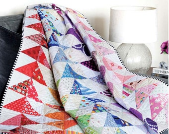 PDF Pattern: Rainbow Geese Quilt (Beginner Friendly)