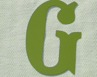 Large Magnetic Metal Letter - Capital G - Personalize It