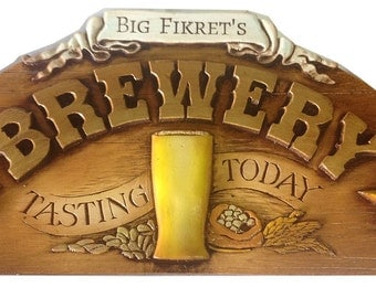 Brewery Tasting Today Personalized Sign