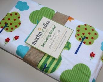 Baby Blanket - Gender Neutral Baby Blanket - Oversized Flannel Baby Receiving Blanket - Swaddle Blanket - Woodland - Owl Baby Blanket
