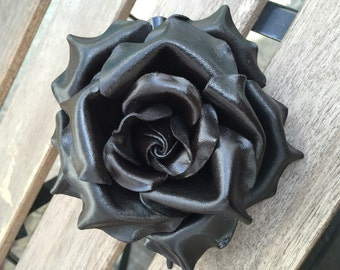 Leather American Rose hair clip in some colors