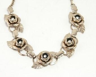 Vintage Rhinestone Costume Jewelry Choker Necklace, Vintage Rhinestone Jewelry