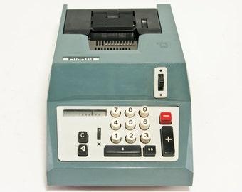 Vintage Olivetti Summa Quanta 20 Adding Machine, Vintage Industrial Adding Machine