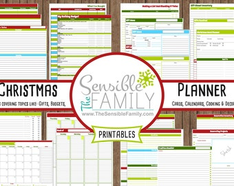 EXTREME Christmas Holiday Organization and Budget Printable Planner