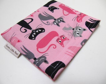 Reusable Snack Bag, Cats Sandwich Bag, Waste Free Lunch Option, Eco-Friendly Snack Bag, Girls Cat Snack Bag