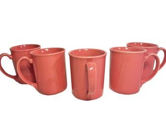 Vintage Corning Coral Mug Set