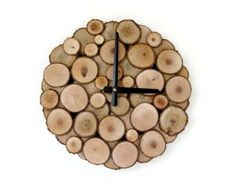 Wood Wall Clock, Unique Clock, Trending, Reclaimed Wood, Decor and  Housewares, Rustic Home Decor,  Home and Living