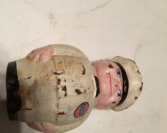 vintage gulf oil attendant cast iron bank