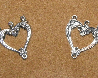 Sterling Silver Heart Chandelier Connector