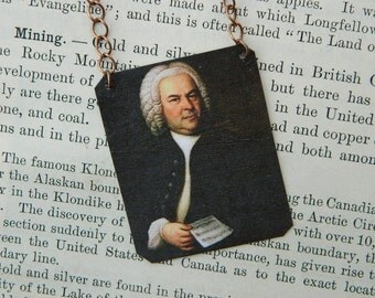 Bach Jewelry Composer jewelry classical music mixed media jewelry