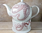 MISTAKE Octopus Cephalopod Teapot and Teapot Warmer, DISCOUNTED SECOND,