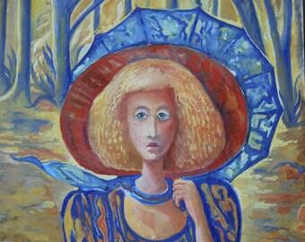"original watercolor painting size 30x42 cm ""Lili"""