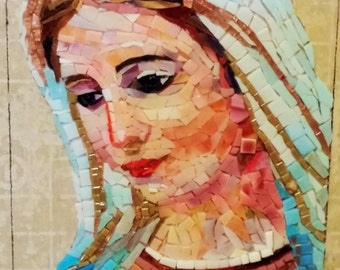 Virgin Mary Mosaic - unique mosaic icon