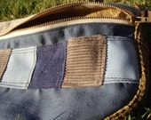 patchwork fanny pack navy lace on BLUE GREY PATCH 08  : handmade hippie patchwork durable unique one of a kind design
