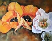 Poppy Painting, Poppy Original Art, Oil Painting of Poppies, Poppy Oil Painting, Flower Oil Painting, Flower Painting of Poppies