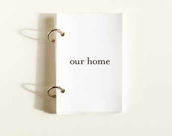 Our Home - Printable Journal Prompts - Mini Books - Memory Keepsake - Home Scrapbook - Guided Journal Pages - Story Prompts Memory Keeping
