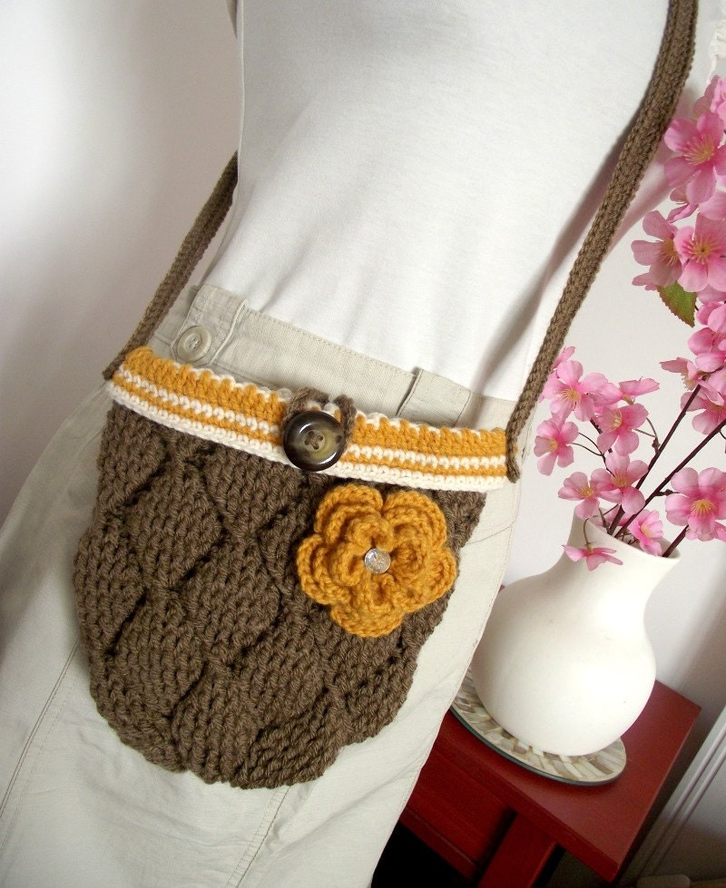 CROCHET BAG PATTERN Diamonds Bag crochet crossbody