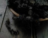 Black Natural Border Leicester lamb locks  - Doll Hair- Santa Gnome Beards-Fur Trim