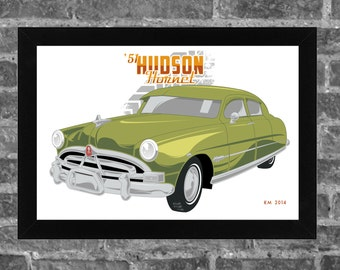1951 HUDSON HORNET limited edition art print. Available in 3 sizes!