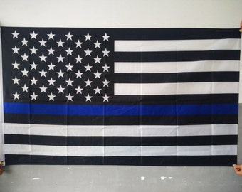 A Thin Blue Line American Flag 3 x 5 Police Support