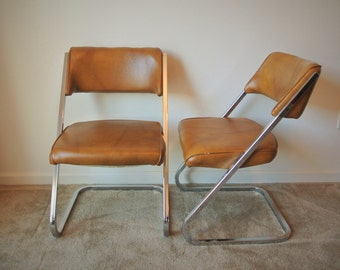 Vintage Howell Metal Z Charis - Set of 4 Retro Dining Chairs
