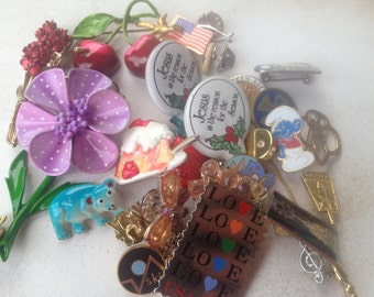 28 Vintage Pins and Brooches, Instant Collection-Jewelry, Vintage Jewelry Pins and Brooches