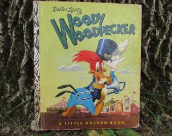 Vintage Woody Woodpecker Little Golden Book 1952