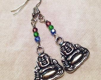 Colorful Dangle Buddha Earrings